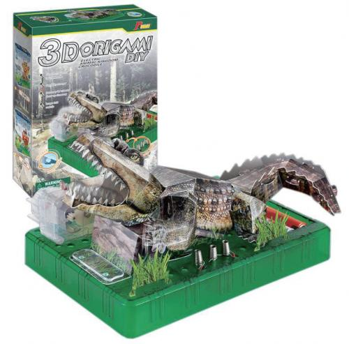 3D摺紙電動趣味科學-瘋狂鱷魚